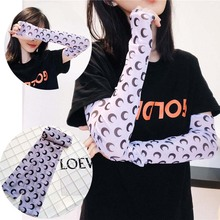 Fashion Colorful Floral Printed Mesh Arm Sleeves For Women Sun Protection Tattoo Armband Outdoor Sports Drive Sleeve