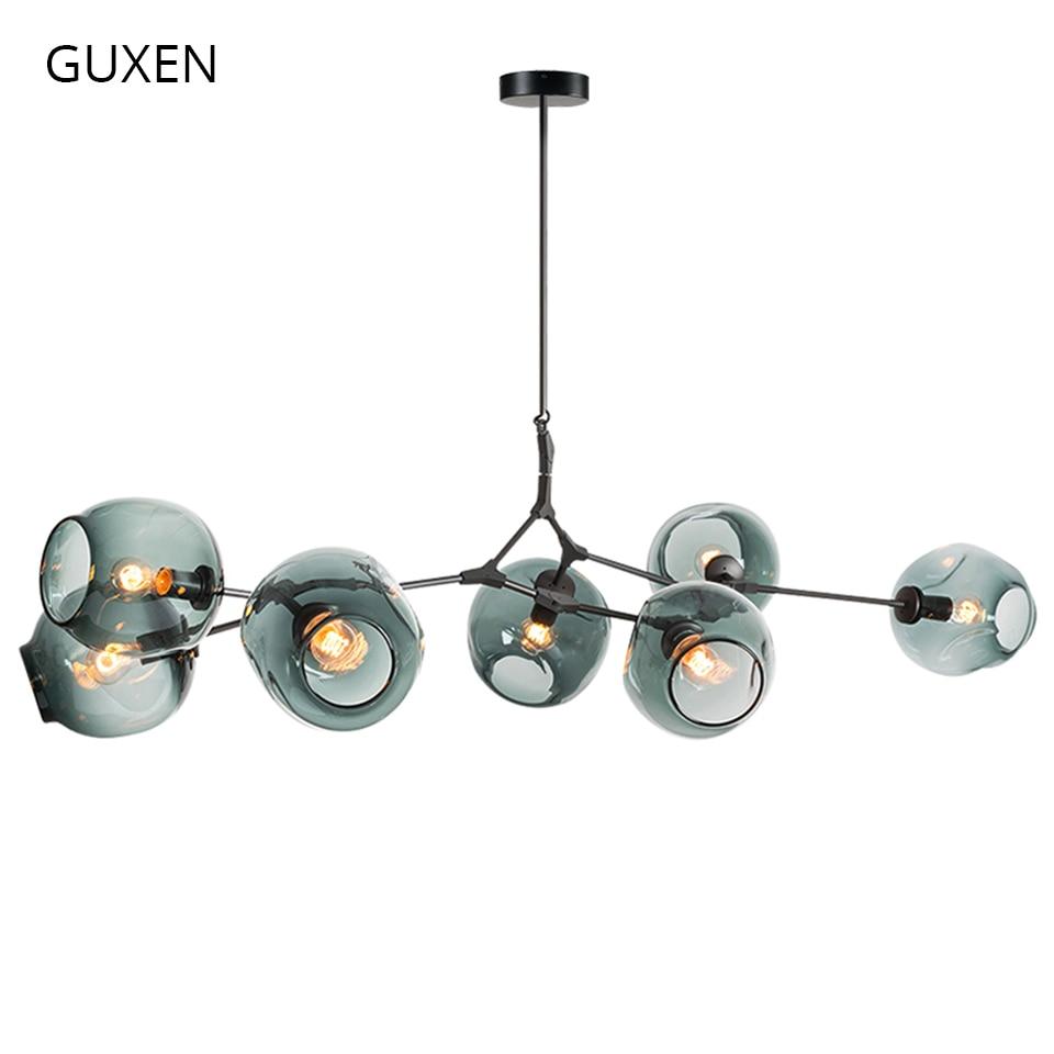 GUXEN Lindsey Adelman Globe Ramification Bulle Lustre 110 v 220 v Moderne Lustre Lumière Éclairage