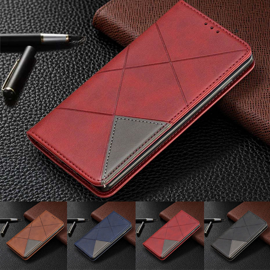 <font><b>Leather</b></font> <font><b>Case</b></font> For Samsuang Galaxy S10 S10E S9 Plus A10 A20E A20 A30 <font><b>A40</b></font> A50 A70 A7 J4 J6 Plus 2018 Note 10 Pro <font><b>Flip</b></font> Phone Cover image