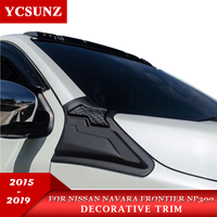 2015 2019 side vent decoration For Nissan Navara 2015 Np300 Accessories Decorative trim For frontier 2016 Car Styling YCSUNZ