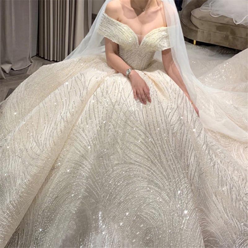 New Fashion Simple 2018 Wedding Dresses Lace Three Quarter Sleeve O-Neck Elegant Plus Size Bride