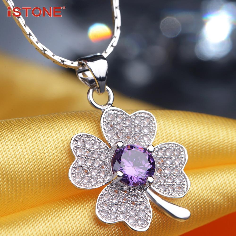 iSTONE Natural Gemstone Pendants 925 ստերլինգ արծաթյա - Նուրբ զարդեր - Լուսանկար 3