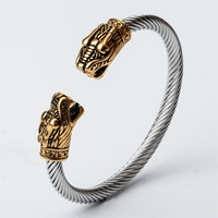 Dragon Bangle Bracelet Stainless Steel Silver Gold Color Birthday Jewelry Gift For Women Her Girlfriend Wife