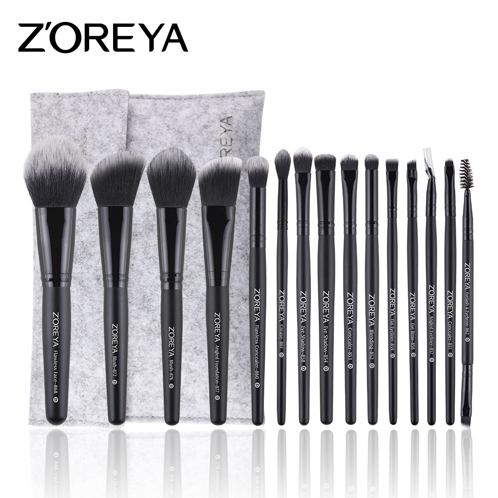 ZOERYA15pcs make up brushes set black classic pro Makeup brush wood handle brushes kit for woman outdoor sports safety glasses anti impact work protective airsoft goggles cycling eyewear 2103