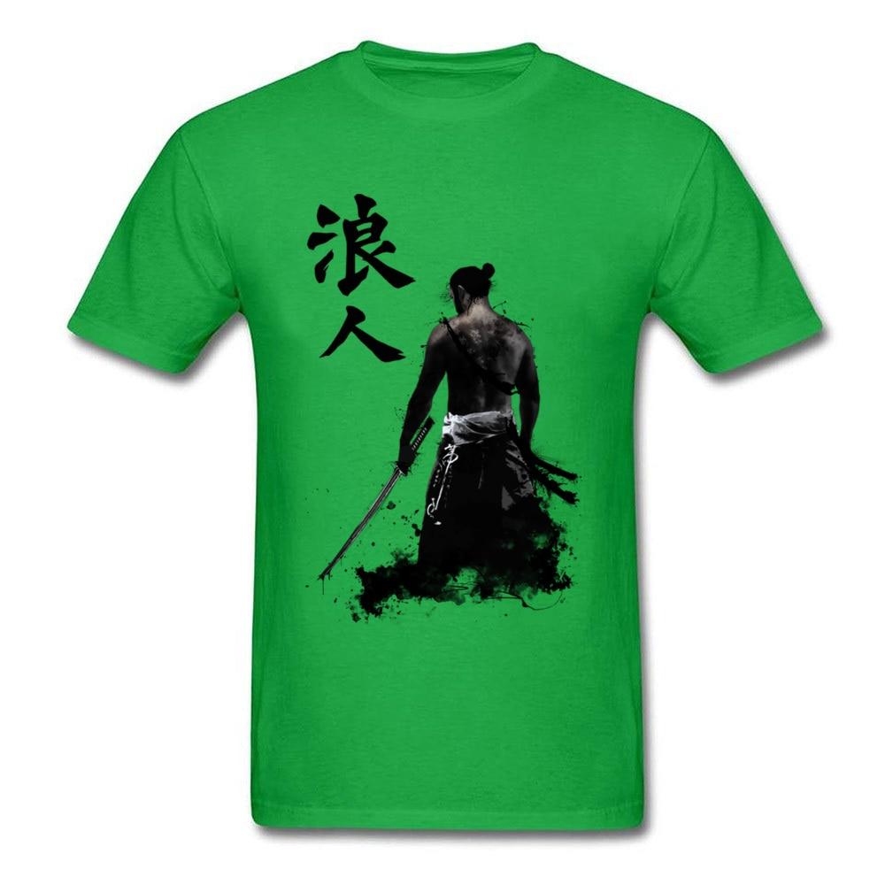 Ronin 3D Printed T-shirts for Men 100% Cotton Summer Tops T Shirt Custom Tee-Shirts Short Sleeve Prevalent Crew Neck Ronin green