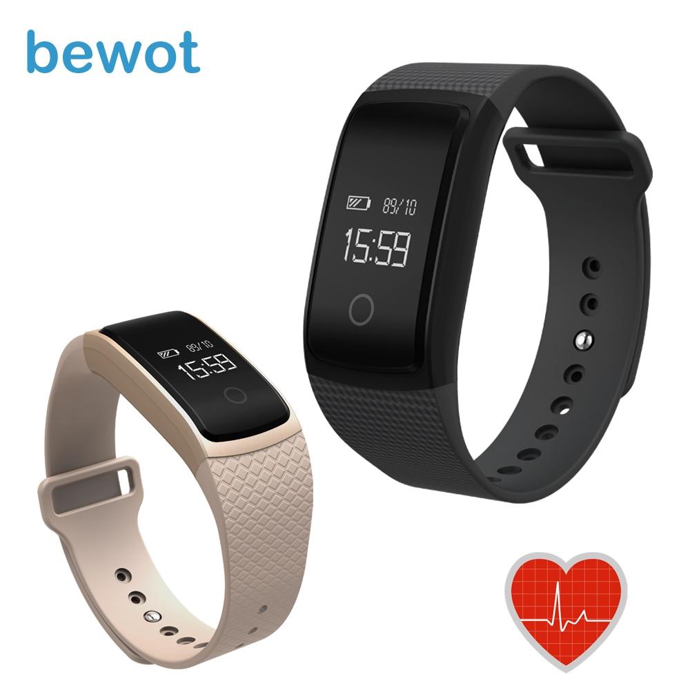 imágenes para Nueva Bewot A09 Banda Inteligente Rastreador De Fitness Pulsera Smartband con Pulsómetro Bluetooth para Android iOS Reloj de la Aptitud