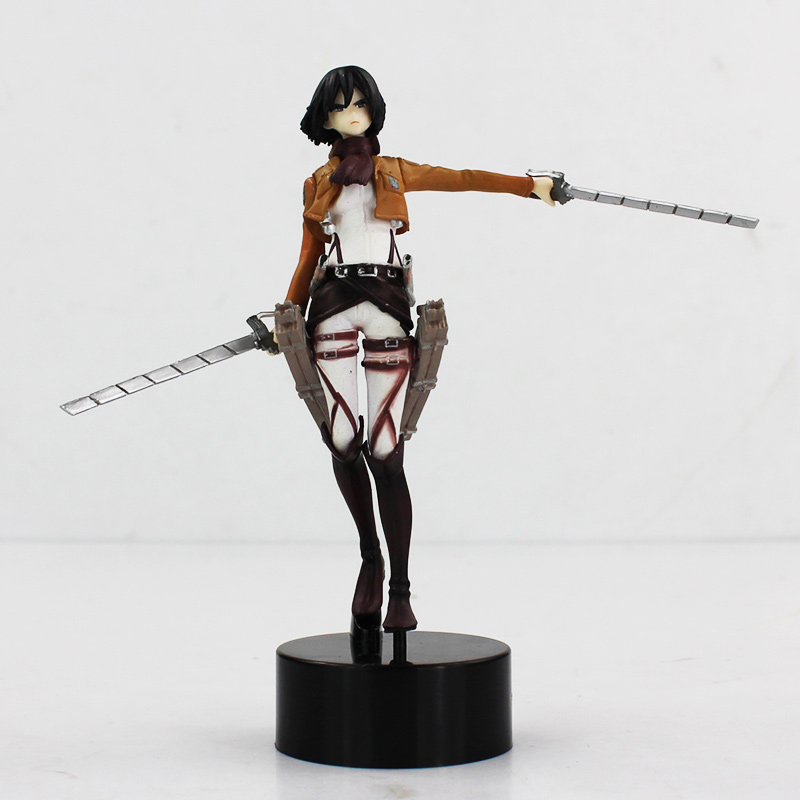 14cm Shingeki No Kyojin Attack On Titan Mikasa Ackerman PVC Figure Doll Best Gift диванная подушка shingeki kyojin 40 x 60 e4780