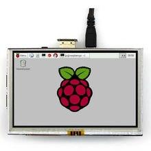 5 pouce Framboise Pi LCD Module D'affichage 800*480 TFT Écran Tactile Résistif Panneau HDMI Interface pour de Gélatine Framboise Pi A/A +/B/B +/2 B