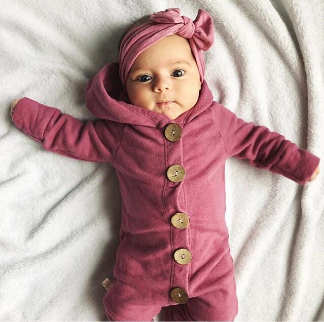 HTB1HnuCXLvsK1RjSspdq6AZepXa6 Toddler Baby Clothes Hooded Long Sleeve Button Boy&Girl Kids Baby Rompers Cotton Jumpsuit New Born Baby Clothes Casual Outfit