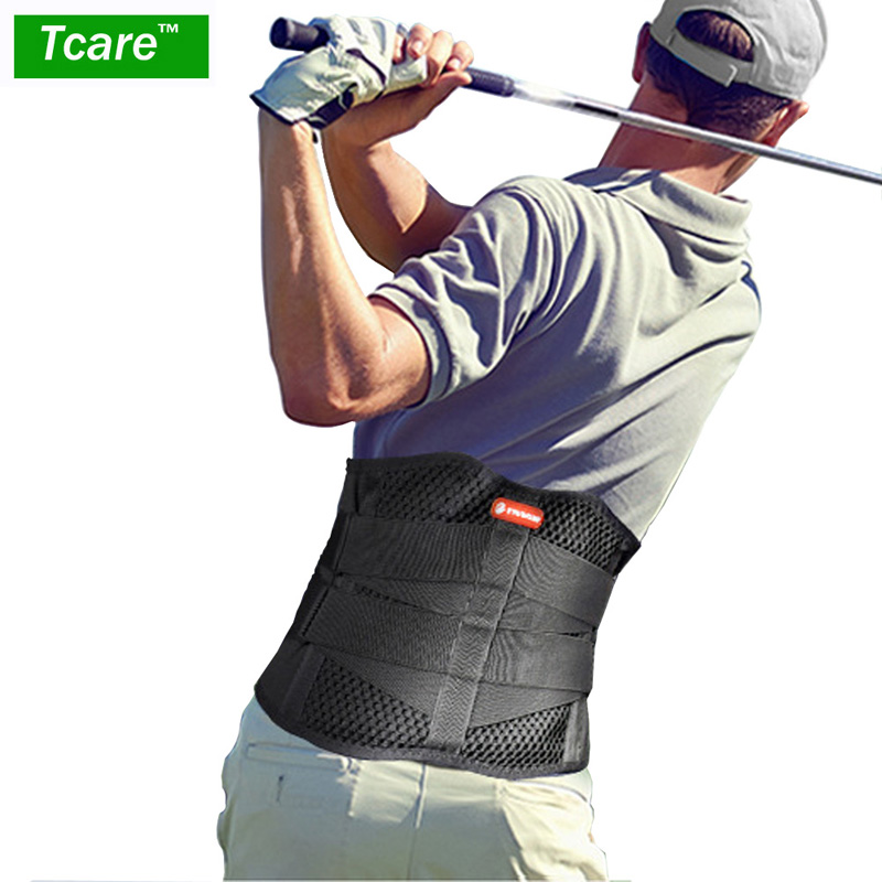 Tcare Lumbar Lower Back Brace Support Belt - Helps Men & Women Relieve Lower Back Pain with Sciatica, Scoliosis