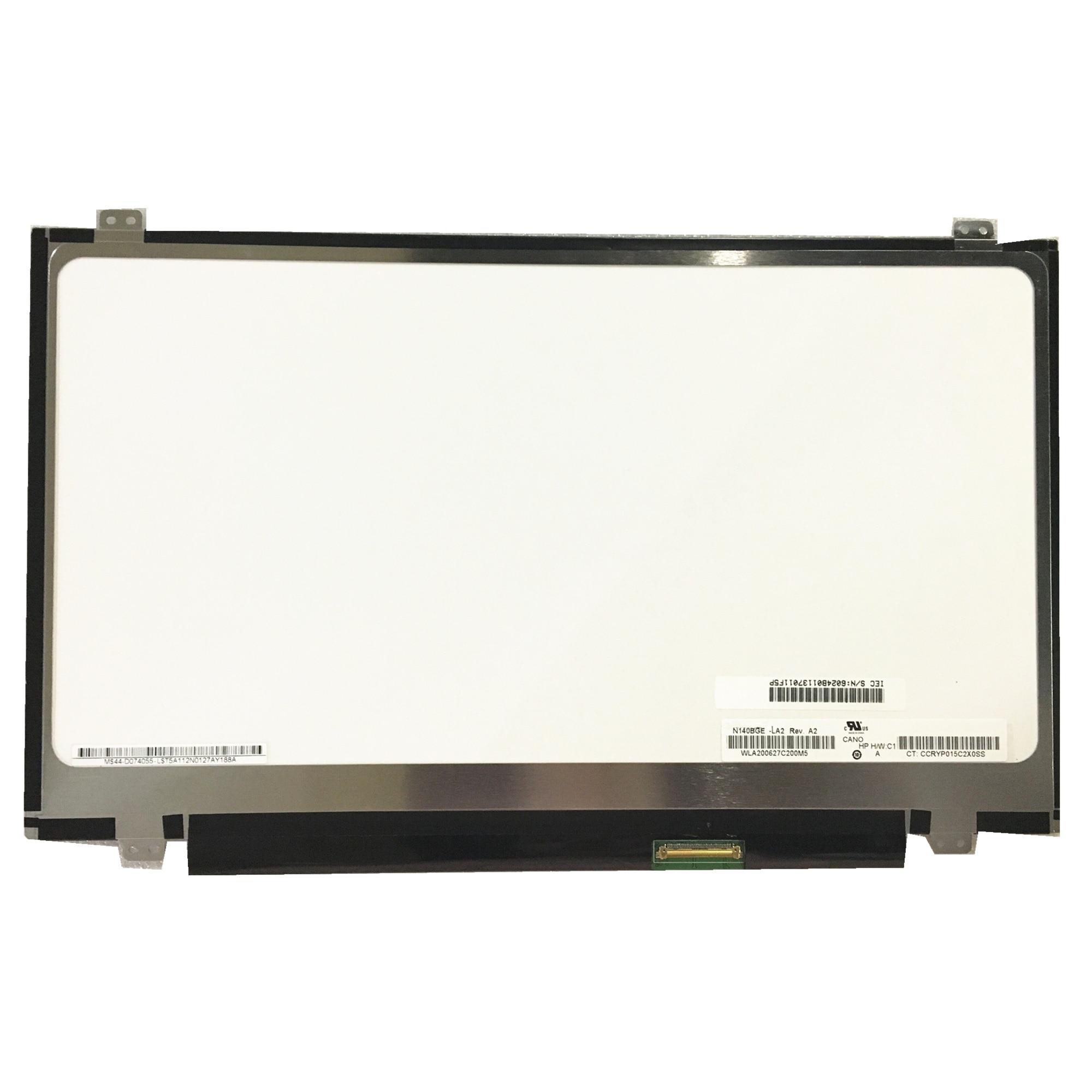 Free Shipping N140BGE-LA2 LP140WHU TLB1 N140BGE L42 L43 LP140WH2 TLA2 Laptop Lcd Screen 1366*768 LVDS 40pins
