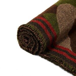 Image 2 - POBING bufanda de Cachemira de leopardo para mujer, chales básicos de acrílico, Wram, manta femenina, bufanda con borla