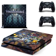 Kingdom Hearts III PS4 Vinyl Skin Sticker Cover for Playstation 4 System Console and Two Controllers