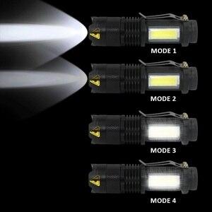 Image 5 - Компактный Ультраяркий портативный светодиодный фонарик с регулируемым фокусом и батареей АА 14500, 3800 лм
