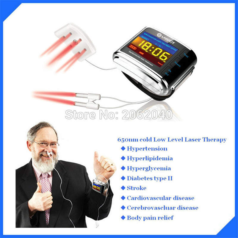 high blood pressure and diabetes laser therapy equipment laser watch LASPOT laspot laser therapy safe and effective for home care anti inflammatory edema reduction