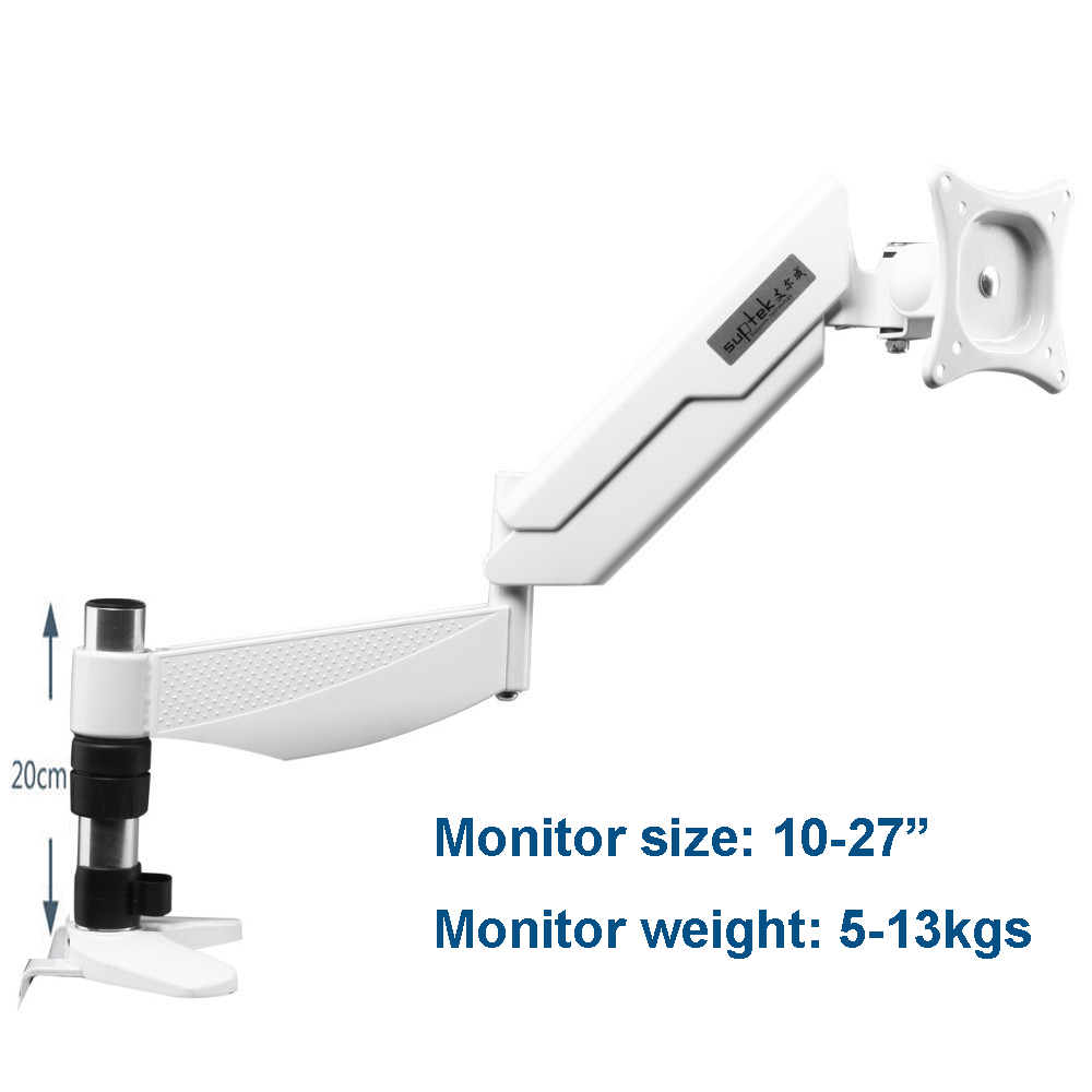 Ergonomic 10 27 Full Rotation Desktop Monitor Holder Gas Spring Arm TV Mount Free Lifting Bracket
