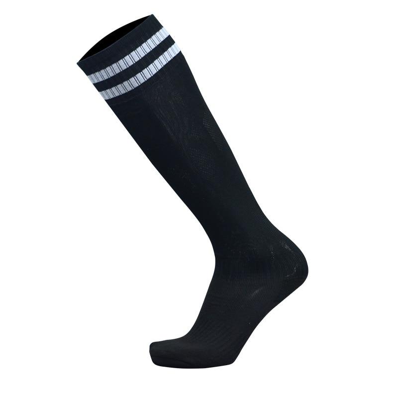 1 пара спортивные носки полиэстер прочный дышащий пота Футбол Бег Велоспорт утолщение открытый спортивные гольфы для Для мужчин мальчиков - Цвет: Черный