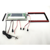 Time Temp Display System On Mirror Surface Light Mirror Switch Touch Switch