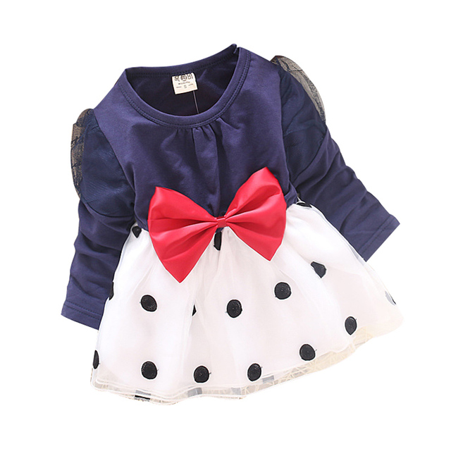 2015 spring new 1pcs/lot Korean baby girls long-sleeved 100% cotton flower sarong Recommend 7-24 months dress for girls