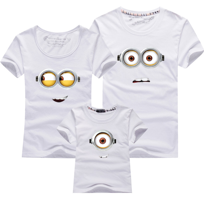 wholesale family clothing minions t shirts father and son. Black Bedroom Furniture Sets. Home Design Ideas