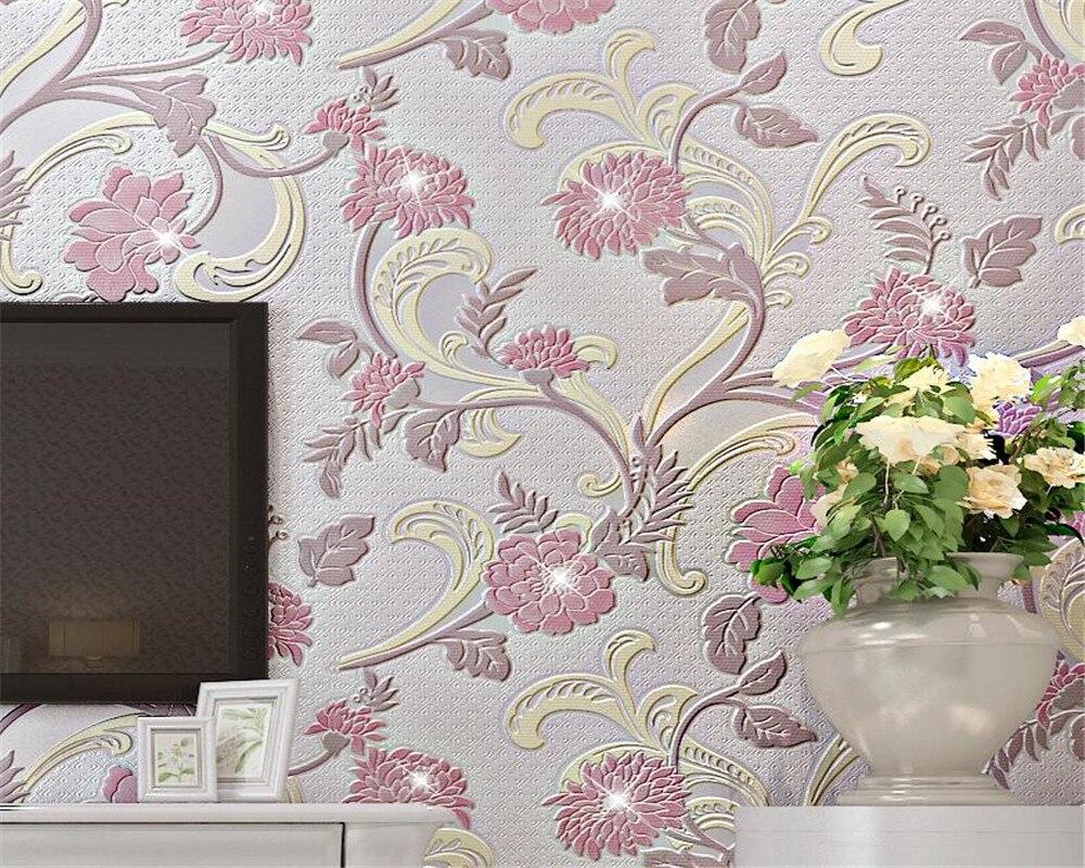 Beibehang Wallpaper pink beige purple diamond relief 3d wallpaper living room bedroom TV background diamond 3D wallpaper roll 3d ручка feizerg f001 purple fp001