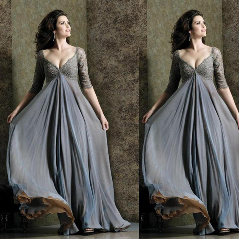 Silky Gray Tulle Prom Dresses 2016 Deep