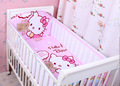 17Color 6pcs/sets 3D100% Cotton Breathable Mesh Cartoon Baby Bedding Set Fashion Crib Bumper Baby Cot Sets  Kids Bed Around