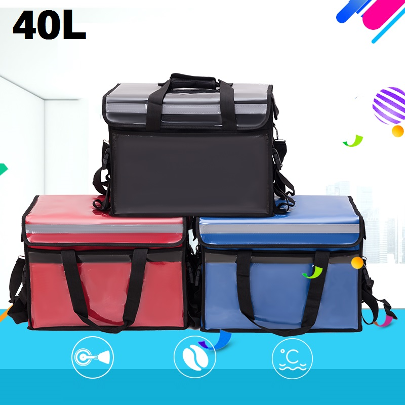 Large Food Thermal Cooler Bag Outdoor Delivery Waterproof <font><b>Ice</b></font> Thermo <font><b>Packs</b></font> Car Travel Picnic <font><b>Lunch</b></font> Box Thermos Refrigerator Bag image
