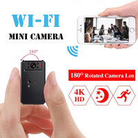 Mini WiFi Camera 4K HD 1080P Video Audio Recorder with IR Night Vision Motion Detection Small Wireless Camcorder Car Micro Cam