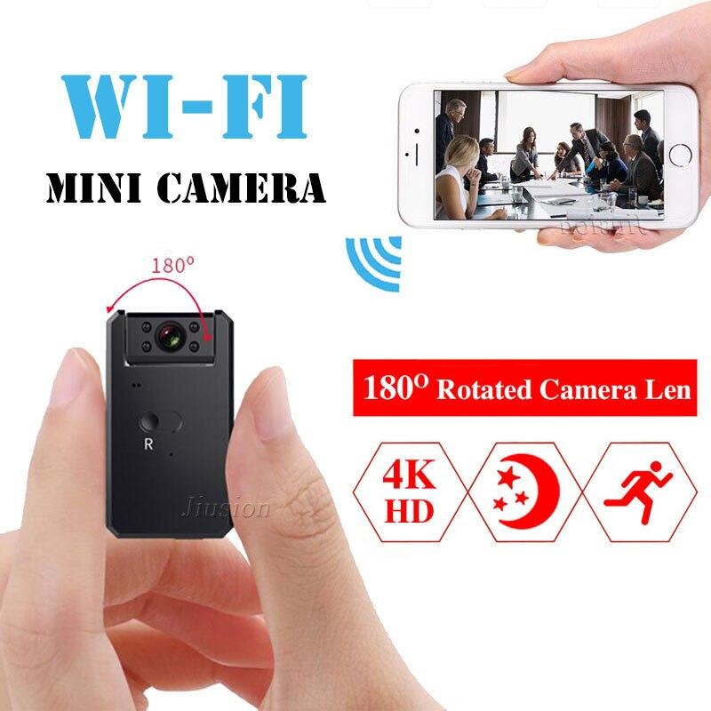Mini Macchina Fotografica di WiFi 4 k HD 1080 p Video Audio Recorder con Visione Notturna di IR di Rilevazione di Movimento della Piccola Videocamera Wireless auto Micro Cam