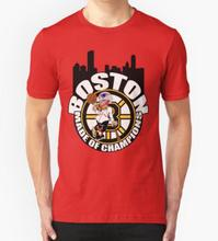 New Summer 2016 Boston Made OF Champions T Shirt Men Clothing Short Sleeve DIY Design Printed Custom T-shirt
