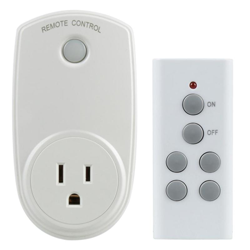 US Plug WIFI Wireless 433MHz RF Remote Control Switch + Remote Control Socket For Smart Home Light Household Appliances Switch 433mhz remote control wireless rf plug in thermostat hydroponic kit greenhouse 3kw temperature alarm electric socket