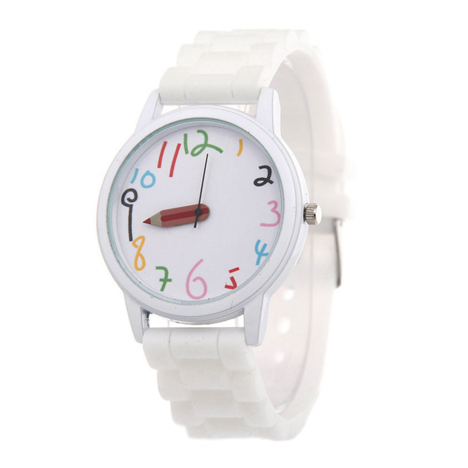 Fashion Children's Watch Pencil Pointer Watch Quartz Silicone Watch Children's Accessories Multicolor