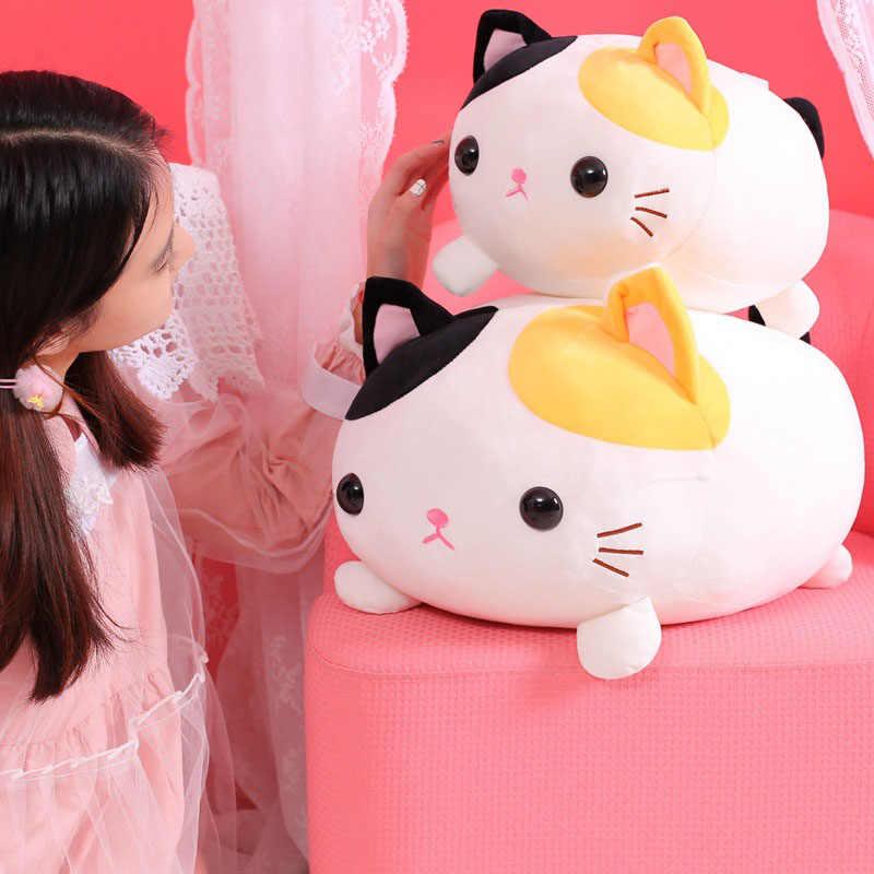 Kawaii большая кошка плюшевая игрушка животное толстый кот мягкая кукла Милая киска подушка подарок на день рождения для детей дети девочки