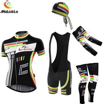 Malciklo Verão Anti-UV 2019 Das Mulheres Camisa de Ciclismo Definir Bicicleta Desgaste Mangas Curtas Kits Ciclismo Roupas Maillot Ciclismo Ropa Mujer