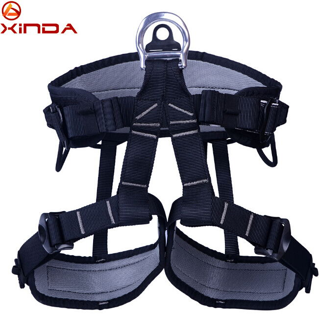 XINDA Camping Outdoor Hiking Rock Climbing Half Body Waist Support Safety Belt Harness Aerial Equipment survival kit 25kn professional carabiner d shape safety master lock outdoor rock climbing buckle equipment