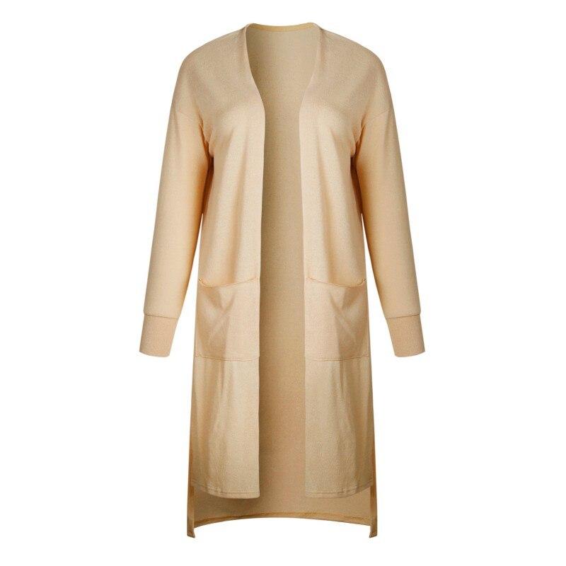 Women Sweater Cardigan Female Sweaters Thin Outerwear Pocket Aurumn Sweater Coat