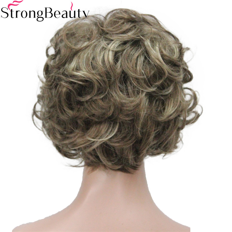Image 3 - Strong Beauty Short Curly Wigs Synthetic Hair Capless Women WigSynthetic None-Lace  Wigs   -