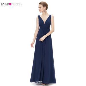 Image 3 - שושבינה שמלות אי פעם די EP09016 כפול V בורגונדי אלגנטי ארוך פורמליות חתונת שושבינה שמלות עבור 2019 Vestido שמלות