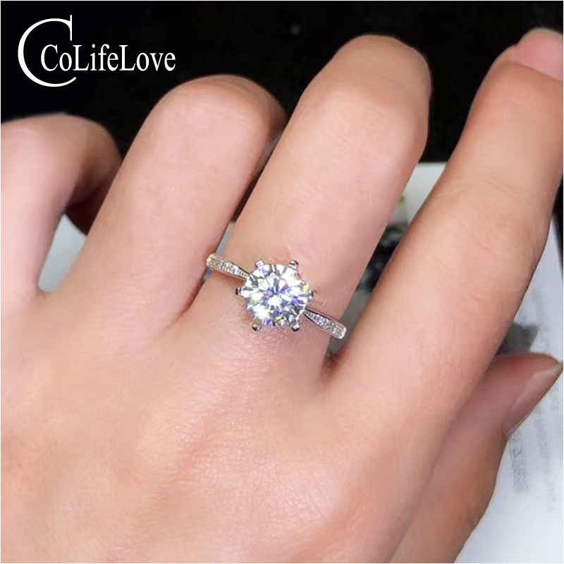 CoLife Jewelry 1.2ct 2ct D Color VVS1 Grade Moissanite Ring for Wedding 925 Silver Moissanite Ring for Engagement Birthday GiftCoLife Jewelry 1.2ct 2ct D Color VVS1 Grade Moissanite Ring for Wedding 925 Silver Moissanite Ring for Engagement Birthday Gift