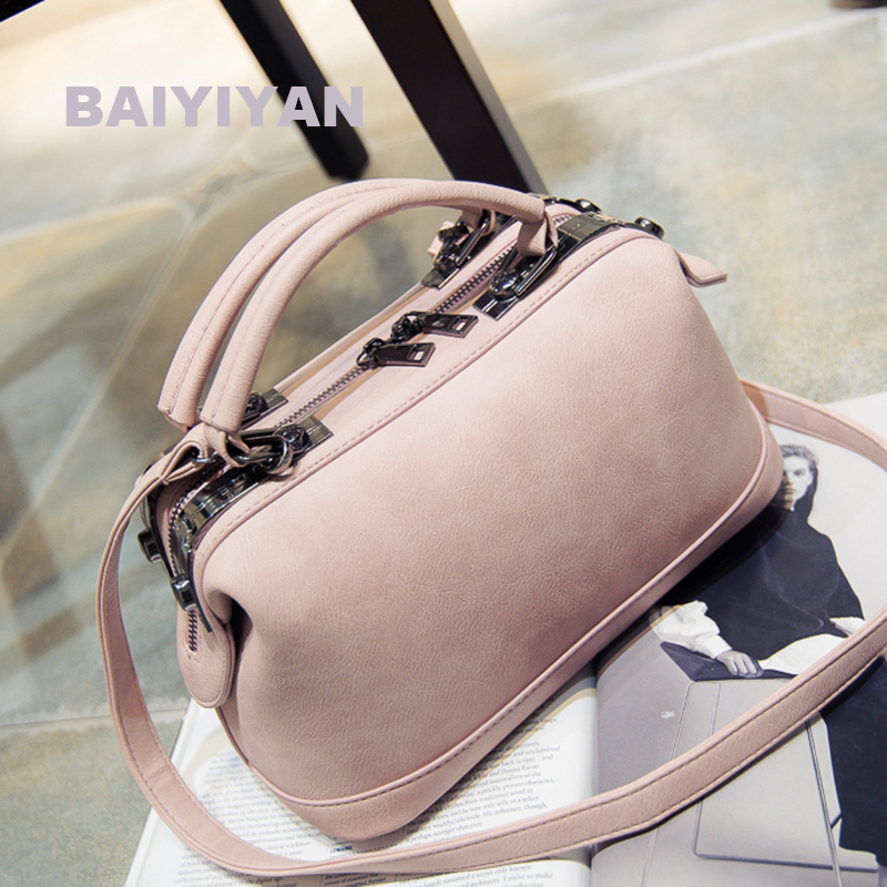 New Fashion High Quality Designer Women Boston Bag PU Leather Bag Women Crossbody Bag Ladies Boston Tote Bag