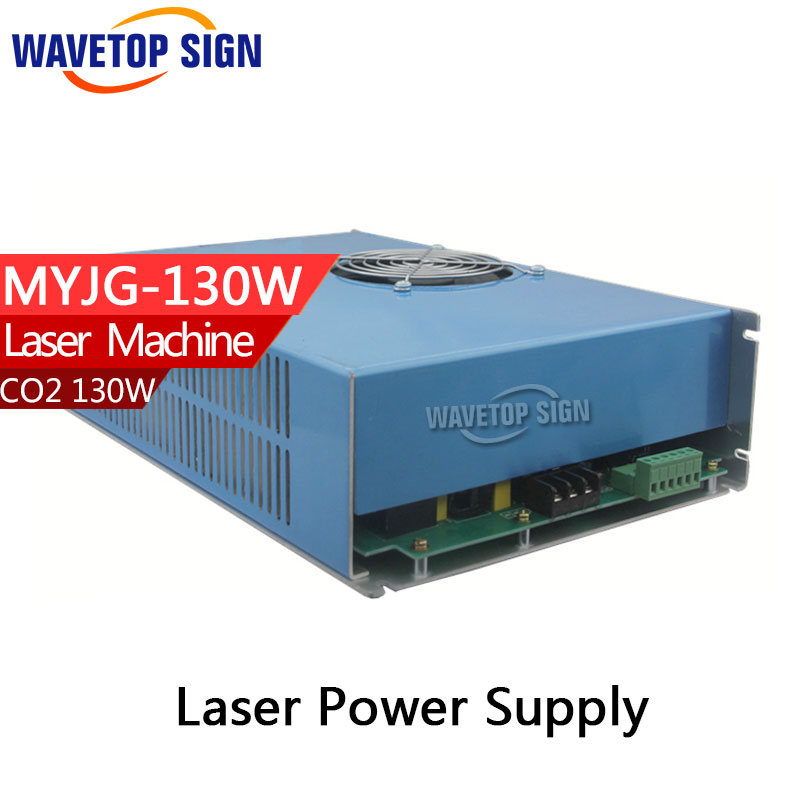 130W CO2 Laser Power Supply for CO2 Laser Engraving Cutting Machine MYJG-130 factory supply co2 laser second reflection 25mm mirror mount support integrative holder for laser engraving cutting machine