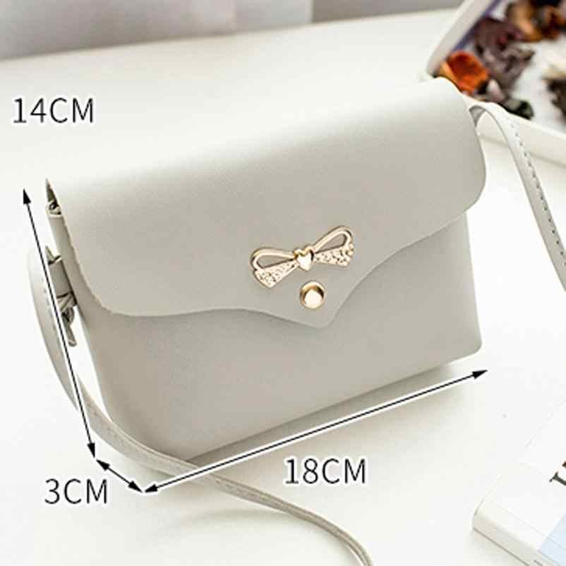 ... Mini Bow PU Leather Chain Bag Women Handbags Women crossbody bags  Ladies Pretty Crossbody Shoulder Bag 8c6865361ef7b