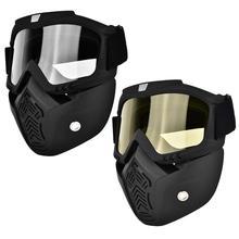 Защитная маска, противотуманная защитная маска, маска на все лицо, Противоударная защитная маска для глаз и носа