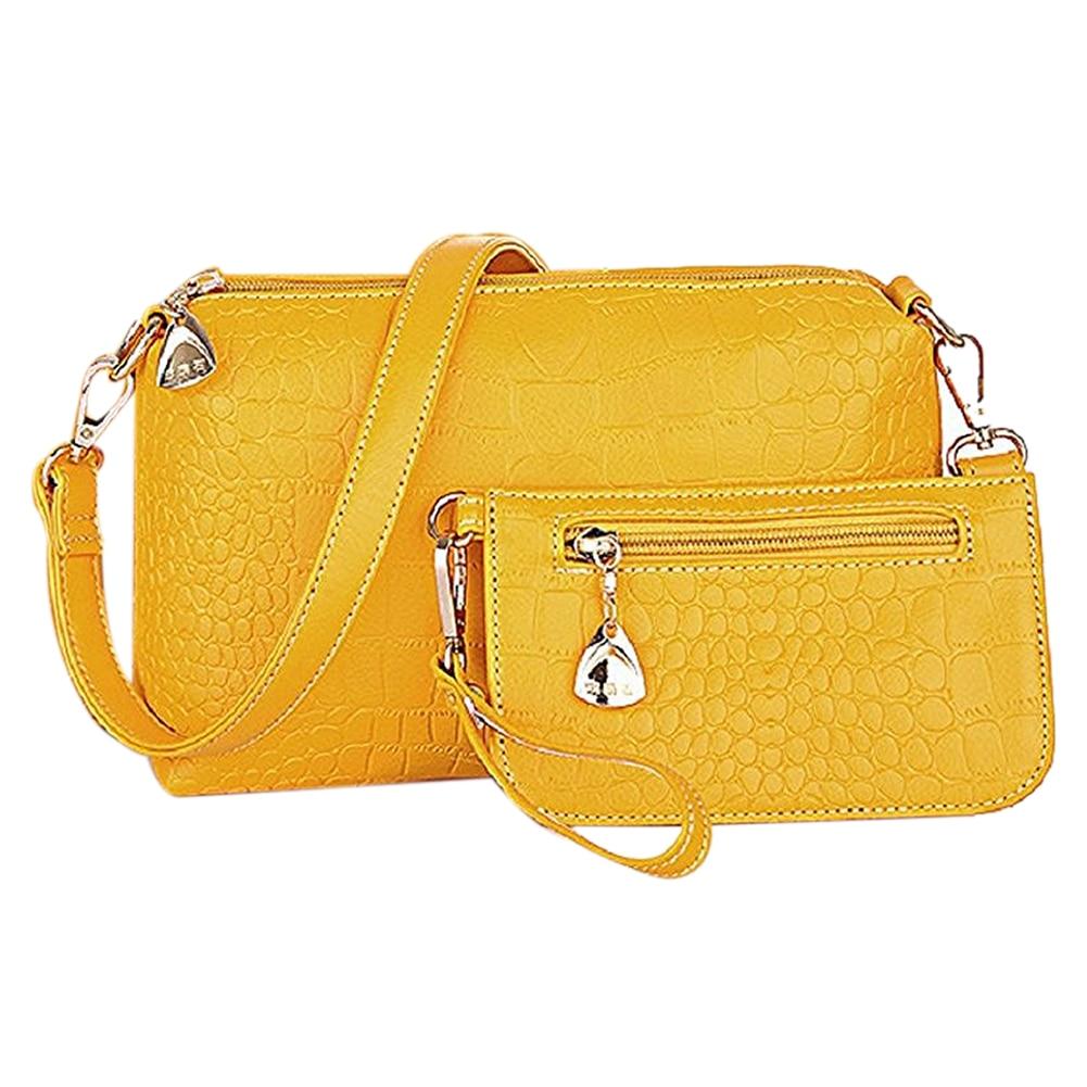 Unique Shoulder bag Three-pieces Bag (Yellow)