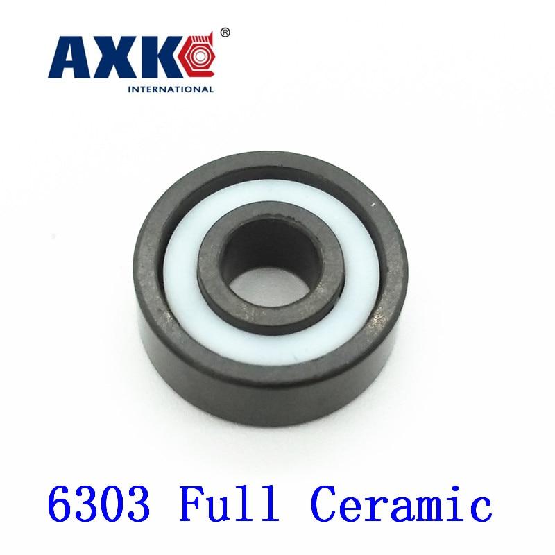 Axk 6303 Full Ceramic Bearing ( 1 Pc ) 17*47*14 Mm Si3n4 Material 6303ce All Silicon Nitride Ceramic Ball Bearings 6305 full ceramic bearing 1 pc 25 62 17 mm si3n4 material 6305ce all silicon nitride ceramic ball bearings