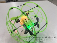 New 2.4Ghz 4ch sky walker wall climbing drone mini rc drone with cage