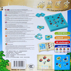 Image 3 - Pirates Hide&Seek IQ Board Games 48 Challenge With Solution Book Smart IQ Toys For Children Party Games Family Interactive Toys