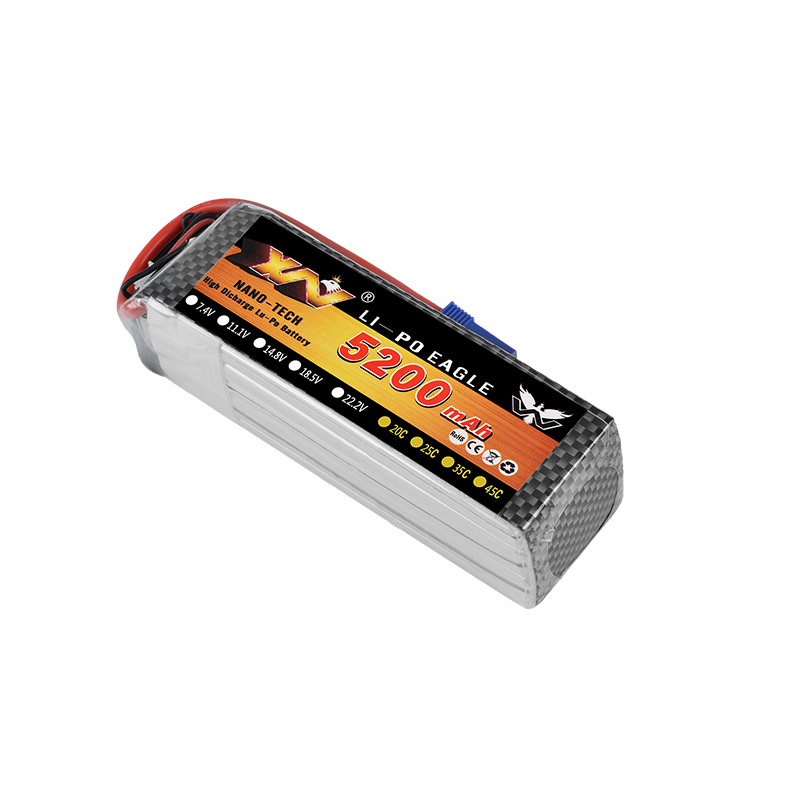 XW Power 7.4V 11.1V 14.8V 22.2V 5200mAh 20C 2S 3S 4S 6S Rechargeable Lipo Battery XT60 T other Plug For RC Drone Car Boat image