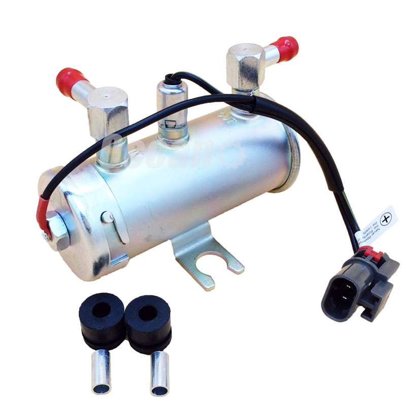 OSIAS High Quality 24V ELECTRIC UNIVERSAL PETROL DIESEL FUEL PUMP FACET SILVER STYLE TRACTOR BOAT tg02 high quality boat style a4 steel electric guitar jack set silver